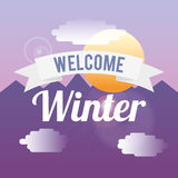 Welcome winter design Stock Image