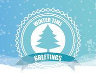 Welcome winter design Stock Photo