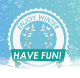 Welcome winter design Royalty Free Stock Images