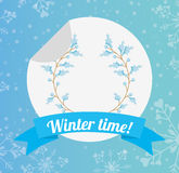 Welcome winter design Stock Images