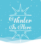 Welcome winter design Royalty Free Stock Image