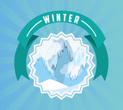 Welcome winter design Royalty Free Stock Photo