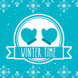 Welcome winter design Royalty Free Stock Photos