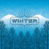 Welcome winter design Stock Photo