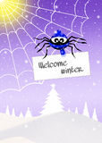 Welcome winter Stock Photography