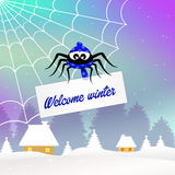 Welcome winter Royalty Free Stock Photo