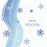 Welcome winter with snowflakes Royalty Free Stock Image