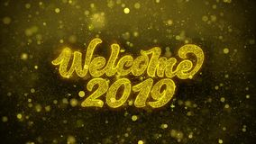 Welcome 2019 Wishes Greetings card, Invitation, Celebration Firework