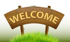 Welcome wood Sign welcome vector design Royalty Free Stock Image