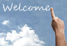 Welcome word Royalty Free Stock Photos