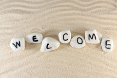 Welcome word Royalty Free Stock Images