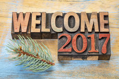 Welcome 2017 word abstract Royalty Free Stock Photo