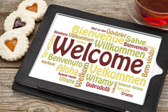 Welcome word cloud Royalty Free Stock Photos
