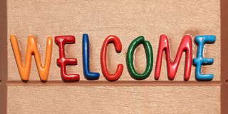 Welcome word Stock Image