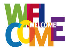 Welcome word. The word welcome - colorful transparent letters Royalty Free Stock Photo