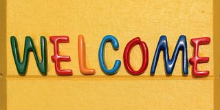 Welcome word Stock Photography