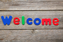 Welcome word Stock Photos