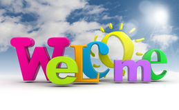 Welcome word. Royalty Free Stock Images