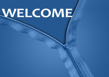Welcome word under zipper Royalty Free Stock Photography