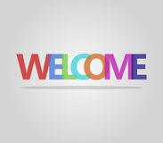 Welcome word. On white background Stock Images