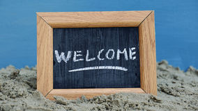 Welcome writen Royalty Free Stock Photo