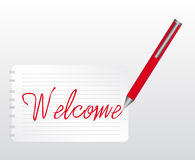 Welcome writing Royalty Free Stock Photo