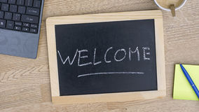 Welcome written Stock Image