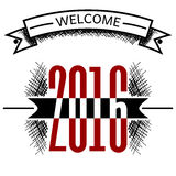 Welcome 2016 year vector sketch Stock Photography