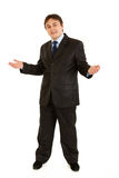 Welcome! Young businessman inviting to cooperation Stock Image
