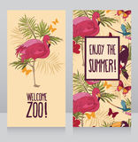 Welcome zoo cards Stock Photos