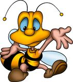 Welcomer wasp. Little Bee 19 - High detailed and coloured illustration - Welcomer wasp vector illustration