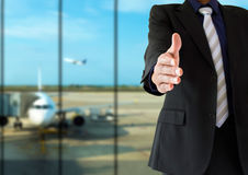 Welcoming airport Royalty Free Stock Image