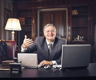 Welcoming boss Stock Photography