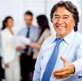 Welcoming business man Stock Photography