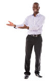 Welcoming business man Royalty Free Stock Photo