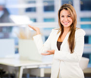 Welcoming business woman Stock Photography