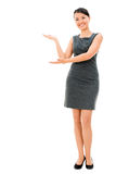 Welcoming business woman Royalty Free Stock Photography