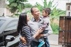 Free Welcoming Daddy Home After Work Stock Photo - 111721230