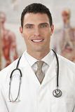 Welcoming Doctor Stock Photography