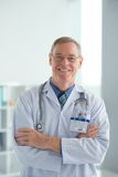 Welcoming doctor Stock Images