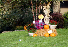 Welcoming the fall season stock photo