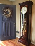 Welcoming Front DoorWith My Grandfather's Clock Stock Photos
