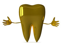 Welcoming golden tooth Stock Photography