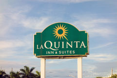 A welcoming hotel sign. An inn at fort lauderdale, florida royalty free stock photo