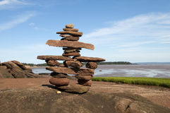 Welcoming  Inukshuk Stock Photo