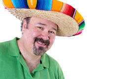Welcoming Man in Mexican Sombrero with Copy Space Stock Photos