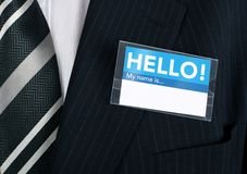 Welcoming name tag Royalty Free Stock Photography