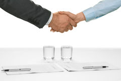 Welcoming a new ally. Royalty Free Stock Image