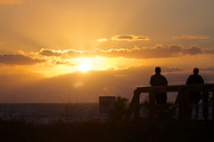 Welcoming a new day. Royalty Free Stock Photos