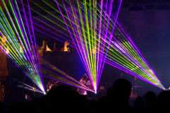 Breathtaking effects on a live concert Royalty Free Stock Images